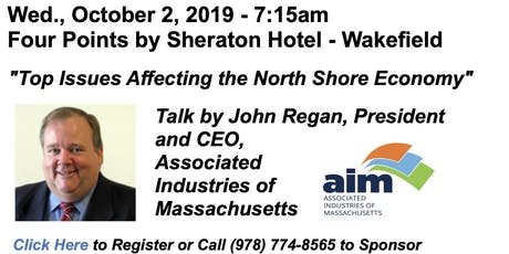 Wed., Oct. 2 - Public Policy Breakfast Update - John Regan, Pres. & CEO of AIM tickets