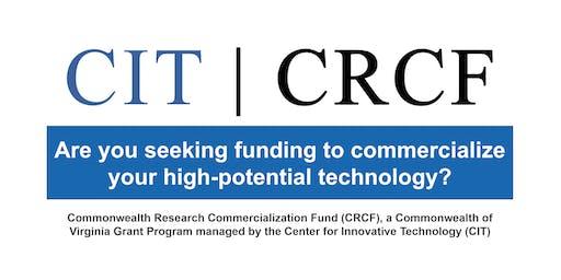 FY2020 CRCF Funding Opportunities | BRIEFING | Fredericksburg, VA
