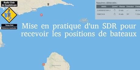 Mise en pratique d'un SDR pour recevoir les positions de bateaux billets