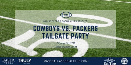 Cowboys VS Packers Tailgate Party tickets