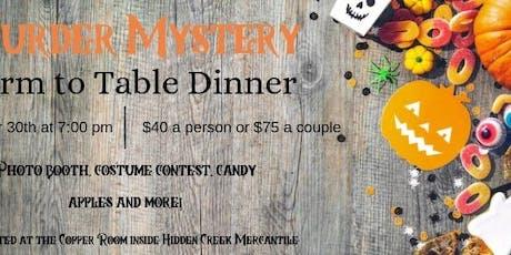 Murder Mystery Farm-to-Table Dinner tickets