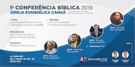 CONFERÊNCIA BÍBLICA 2019 ingressos