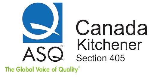 ASQ Kitchener Training - Advanced DoE Practice - (Training Cancelled)
