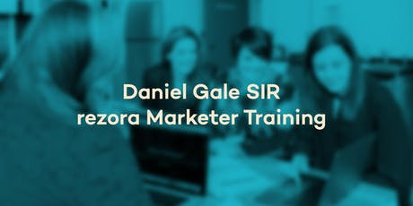 Daniel Gale SIR - rezora Marketer Training tickets