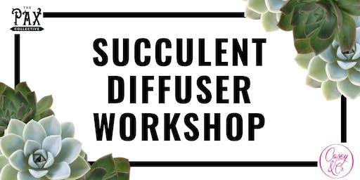 Pumpkin Succulent Diffuser Workshop
