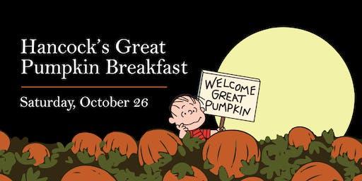 Hancock's Great Pumpkin Breakfast