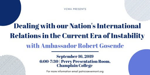 International Relations in the Era of Instability with Amb. Robert Gosende