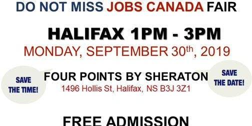 Free: Halifax Job Fair – September 30th, 2019