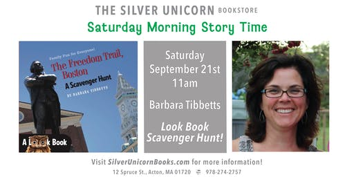 Saturday Morning Storytime and Scavenger Hunt with Barbara Tibbetts