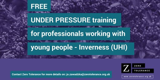 Under Pressure Training for Youth Workers - Inverness (UHI)