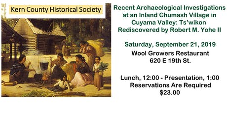 Archaeological Investigations at a Chumash Village in Cuyama Valley tickets