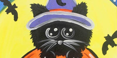 Creative Canvas for Kids - Bewitched Kitten