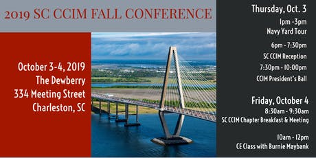 2019 SC CCIM Fall Conference tickets