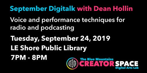 September Digitalk: Dean Hollin