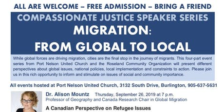 Speaker Series Compassionate Justice Migration Global to Local tickets