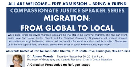 Speaker Series Compassionate Justice Migration Global to Local