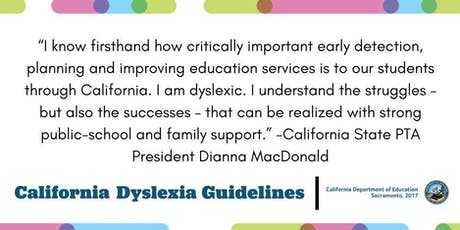 An Introduction to the 2017 CA Dyslexia Guidelines tickets