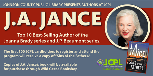Authors at JCPL Presents: J.A. Jance (plus 100 book giveaway)