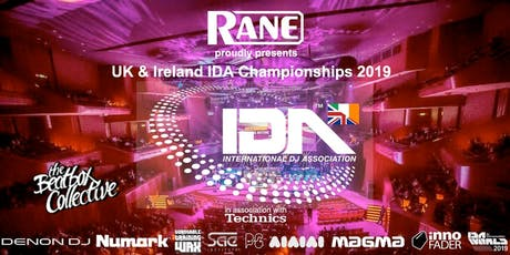 RANE proudly presents the 2019 UK & Ireland IDA Championships @ BEATGEEK tickets
