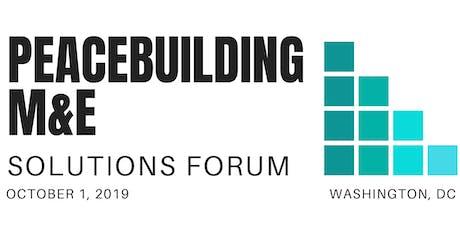 Peacebuilding M&E Solutions Forum tickets