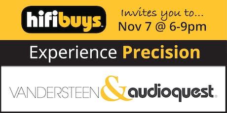 Experience Precision: Vandersteen  tickets