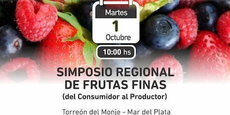 Simposio Regional de Frutas Finas entradas