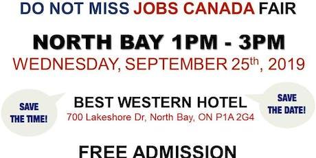 North Bay Job Fair – September 25th, 2019 tickets