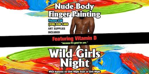 Nude Finger Painting - Wild Girls Night