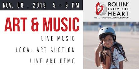 Rollin from the Heart Art & Music Fundraiser tickets