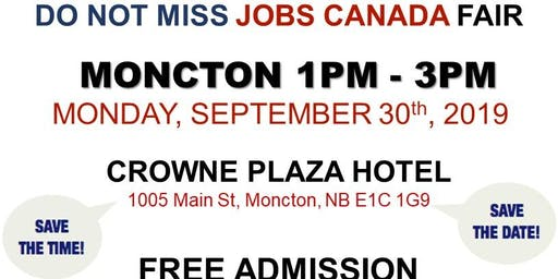 Moncton Job Fair – September 30th, 2019