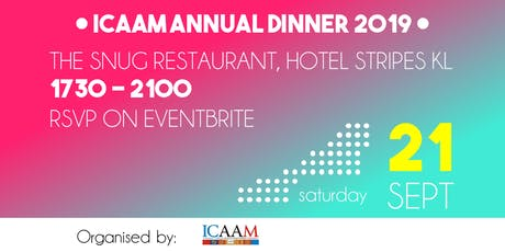 ICAAM Annual Dinner 2019 tickets