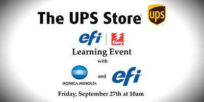The UPS Stores Learning Event with Konica Minolta and EFI