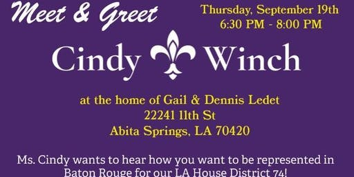 Meet & Greet for Cindy Winch - Candidate for State Rep, District 74