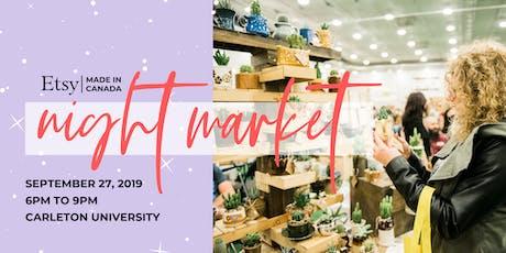 Etsy Made in Canada OTTAWA Night Market // Fall 2019 tickets