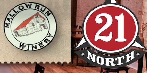 21 North & Mallow Run Winery Pairing