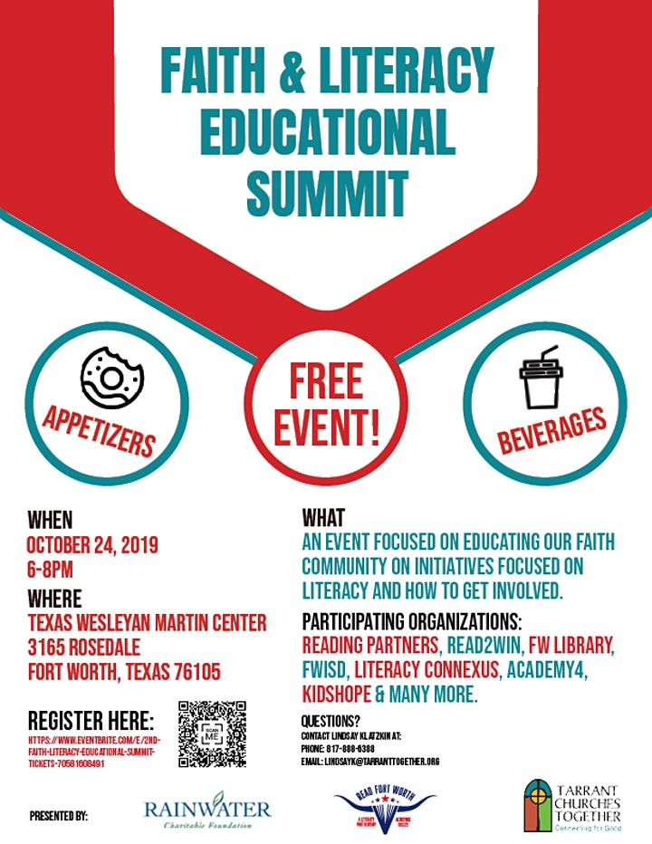 CANCELLED 2nd Faith & Literacy Educational Summit image