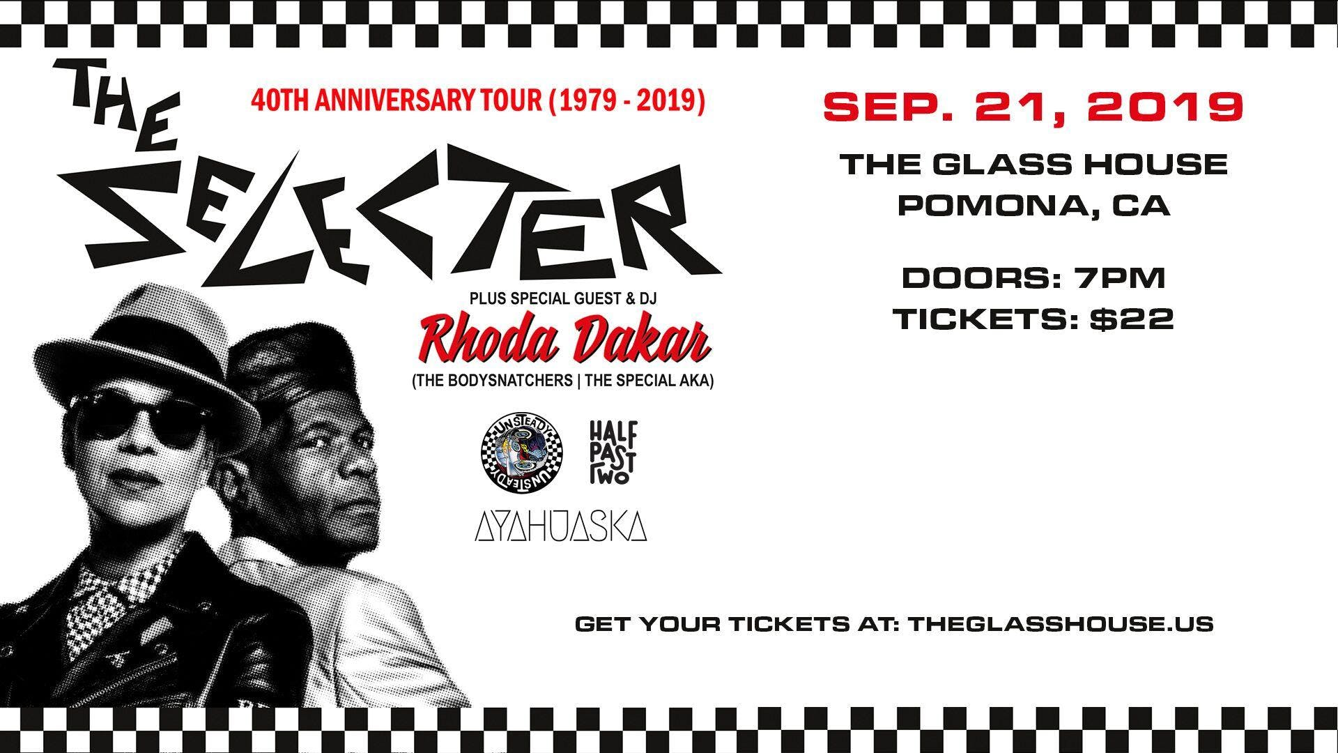 The Selecter w/ Rhoda Dakar, Unsteady, Half Past Two and