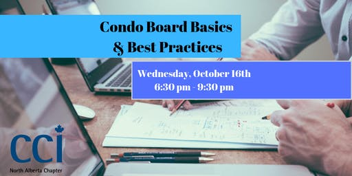 Condo Board Basics and Best Practices (CCI Seminar)