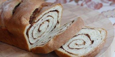 BREAD MAKING CLASS: Cinnamon Raisin Bread