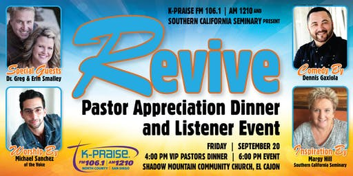 REVIVE: Pastors Appreciation Dinner and Listener Event