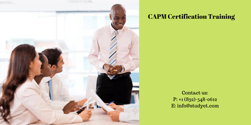 CAPM Online Classroom Training in Lawton, OK