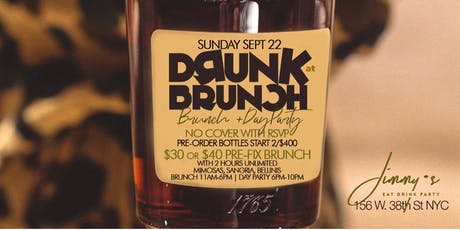 9.22 | DRUNK BRUNCH | Bottomless Brunch & Day Party| Hosted by MTA Rocky tickets