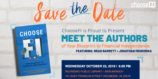 ChooseFI Book Tour and Signing with Brad Barrett and Jonathan Mendonsa