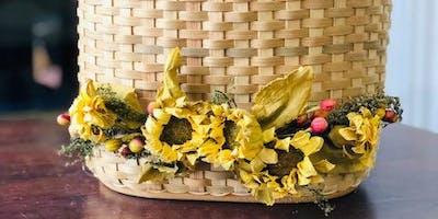 Sunflower Table Basket