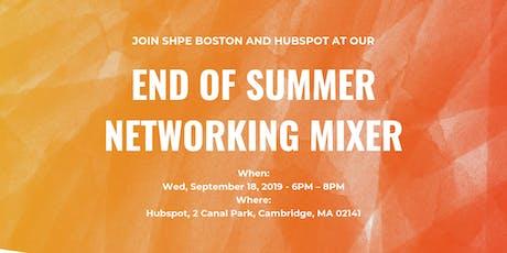 SHPE Boston End of Summer Mixer @ Hubspot tickets