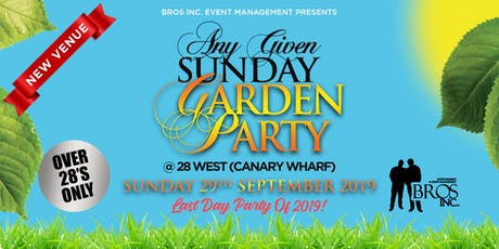 AGS Garden Party - Sunday 29th September 2019 tickets