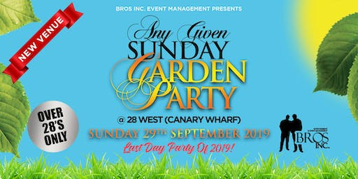 AGS Garden Party - Sunday 29th September 2019