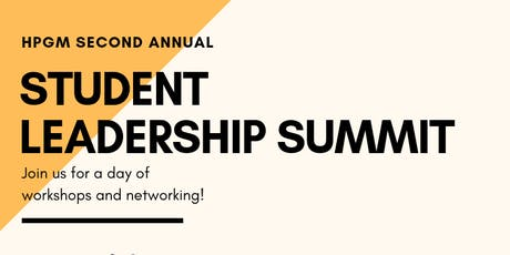 HPGM Student Leadership Summit tickets