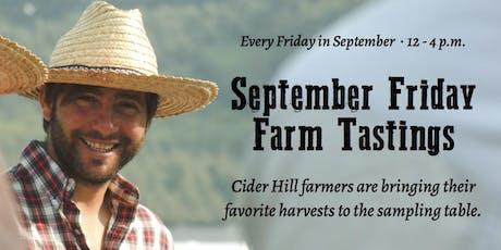 Free September Friday Farm Tastings tickets