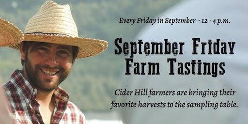 Free September Friday Farm Tastings